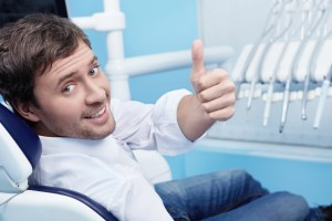 Smiling man visited the dentist carlisle residents trust